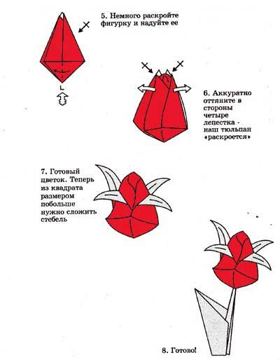Цветы для открытки из бумаги своими руками оригами, постеле музыкальная открытка