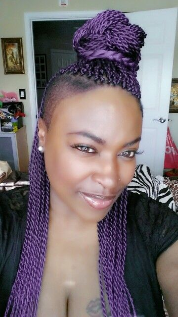 8 best Purple Senegalese Twists Styles images on Pinterest ...