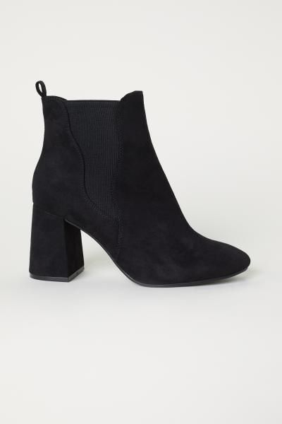 e0bda9a310d9 Ankle Boots with Side Panels - Black - Ladies