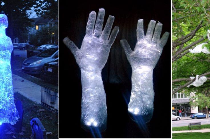 Ces fantômes effrayants sont tout ce qu'il vous manque pour décorer votre terrain à l'Halloween!