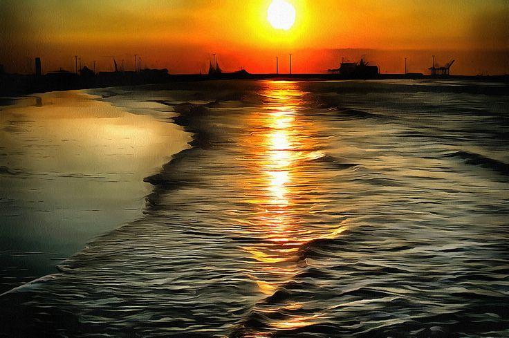 Sunset at the Beach. Knokke Heist, Belgium