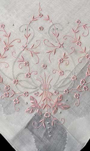 vintage madeira flower hankie handkerchief