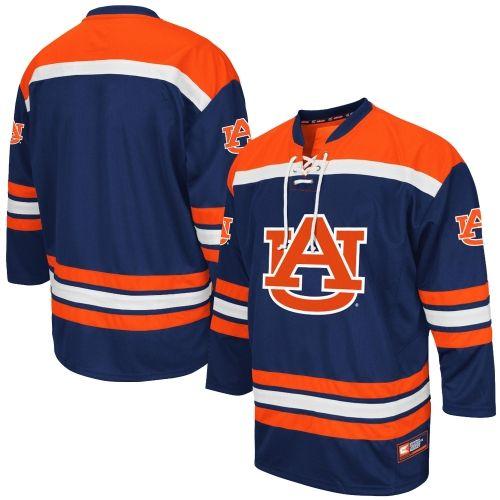 Mens Colosseum Navy Auburn Tigers Hockey Jersey