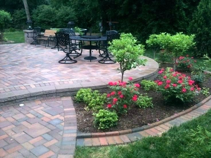 Paver Patio Cost Per Square Foot Fascinating Patio Cost Landscaping Around Patio Flowers Landsca Landscaping Around Patio Patio Landscaping Patio Pavers Design