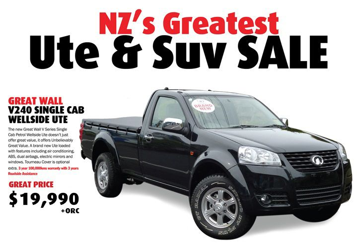 Great Wall V240 Single cab Wellside Ute $19,990+ORC