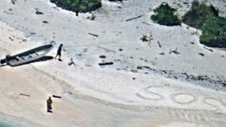 Micronesia: Couple rescued from desert island after SOS spotted in sand
