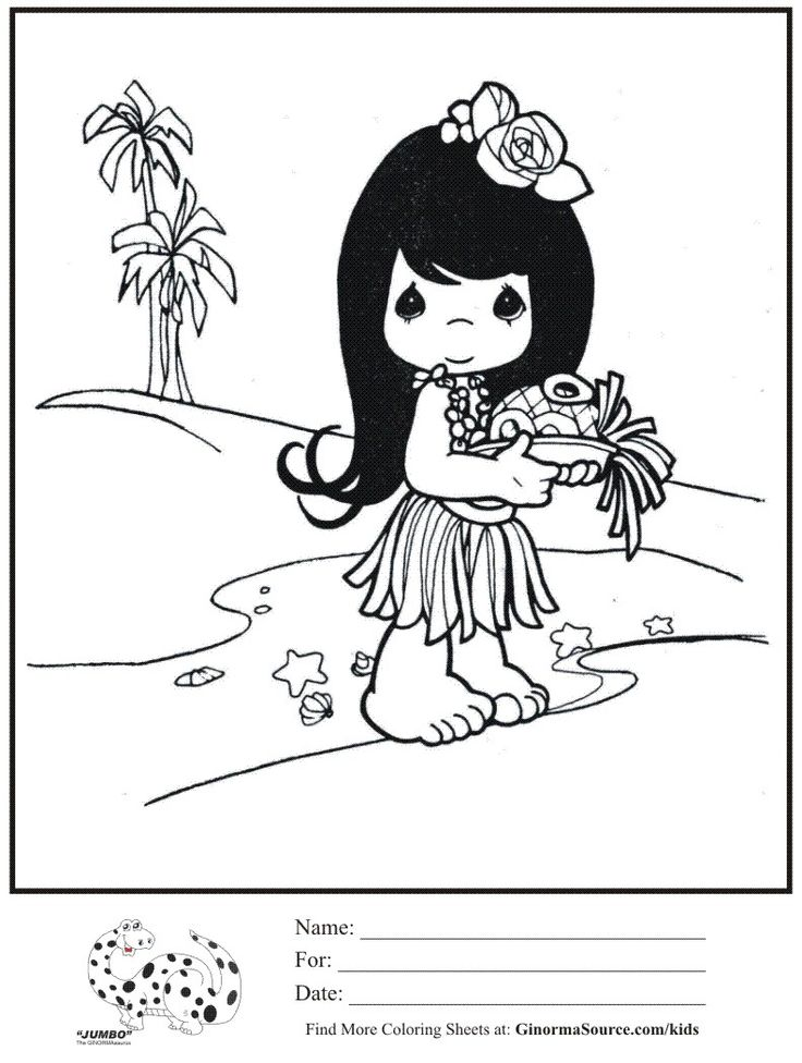 Coloring pages, Coloring and Hawaiian girls on Pinterest
