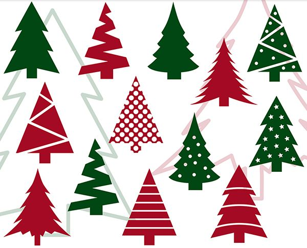 Christmas Tree Svg Bundle Christmas Tree Clip Art Holiday Etsy In 2020 Christmas Graphic Design Tree Svg Clip Art