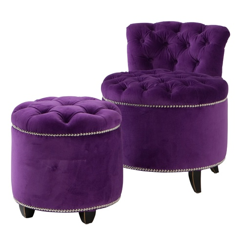 Needs to be mine, The Marilyn Studded Chair & Footstool
