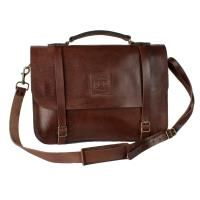 FREEDOM OF MOVEMENTS THE RALPH VINTAGE MID LEATHER BAG IN BROWN
