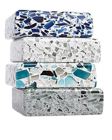 recycled glass counter tops by vetrazzo ♥