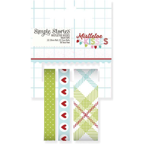 Mistletoe Kisses Washi Tape (SS) - Ninabrook Paper Crafting