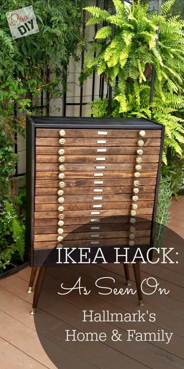 Ikea Hack Map Dresser As Seen On Hallmark S Home And Family