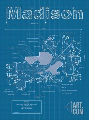 96 best graphic city maps images on pinterest city maps art madison artistic blueprint map art print by christopher estes save up to 40 for malvernweather Image collections