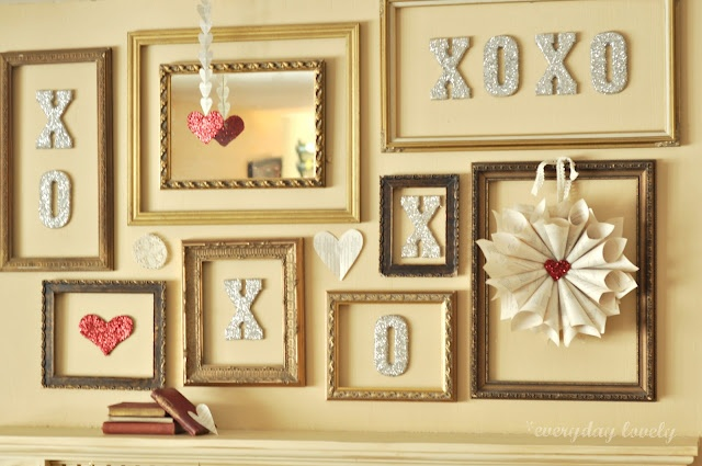 Wall of frames....just change out what's inside per season or holiday: Holiday, Mantels, Valentines Ideas, Decor Ideas, Frames, Xo Valentine S, Valentine S Mantel, Blog Ideas, Craft Ideas