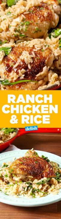 This Ranch Chicken & Rice is a one-pan wonder. Get the recipe from Delish.com.