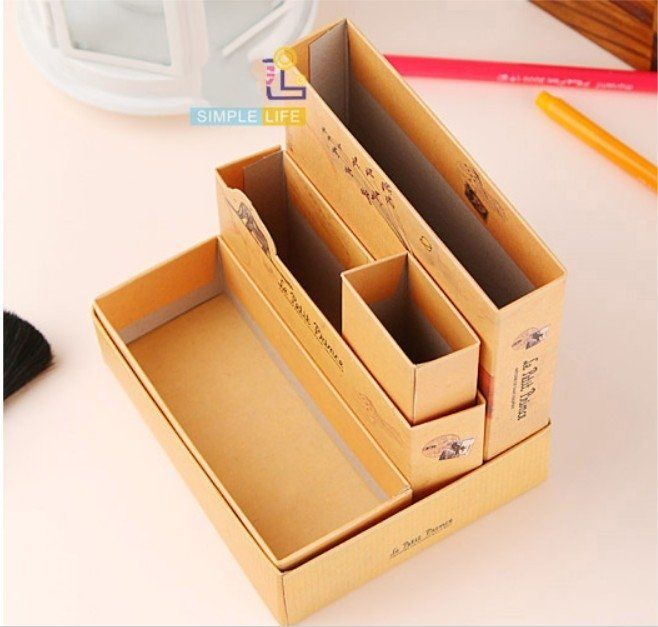 DIY - Storage for Scrapbooking or Make-up or pencils