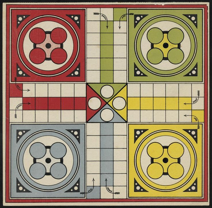 board games from the 1930's Indoor Board Game Ludo