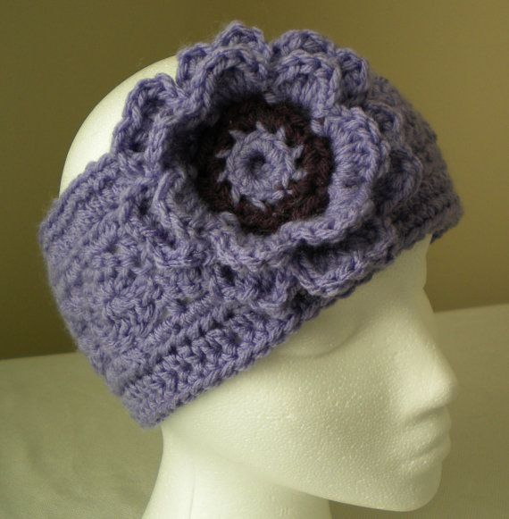 Crochet Flower Ear Warmer Tutorial : 36 best images about Crochet headbands on Pinterest ...