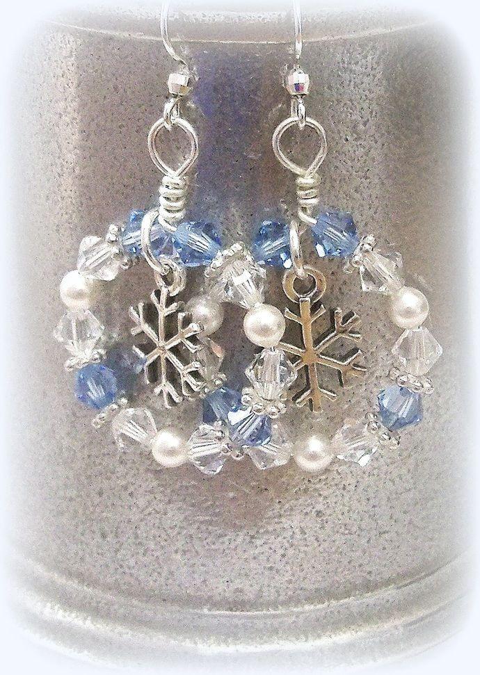 Earrings Arctic Blast by DancingRainbows, $32.00 USD #fbloggers #cbloggers #jewelryinspo