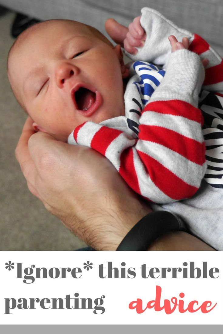 Terrible parenting advice to ignore - if you're pregnant or have a new baby this might sound familiar. Here's ten terrible pieces of parenting advice you don't have to listen to! Make sure you read the full post