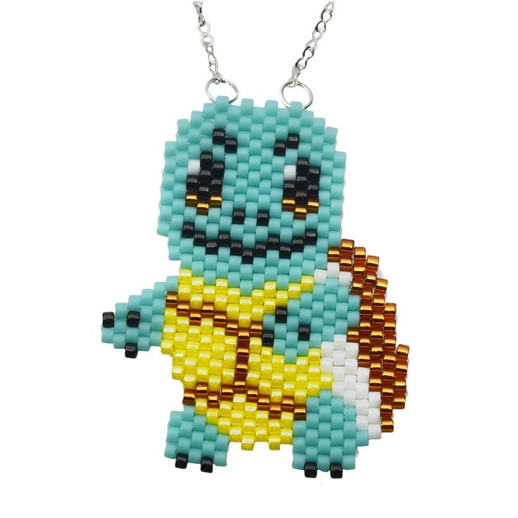 Turn heads with this cute, bead woven necklace featuring the iconic Pokémon…