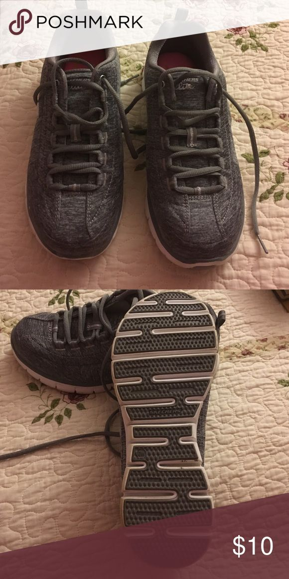 Skechers elite Memory Foam tennis shoes Gently used ladies Skechers elite Memory Foam tennis shoes. They have been only worn slightly. Very little scuff marks. Skechers Shoes Sneakers