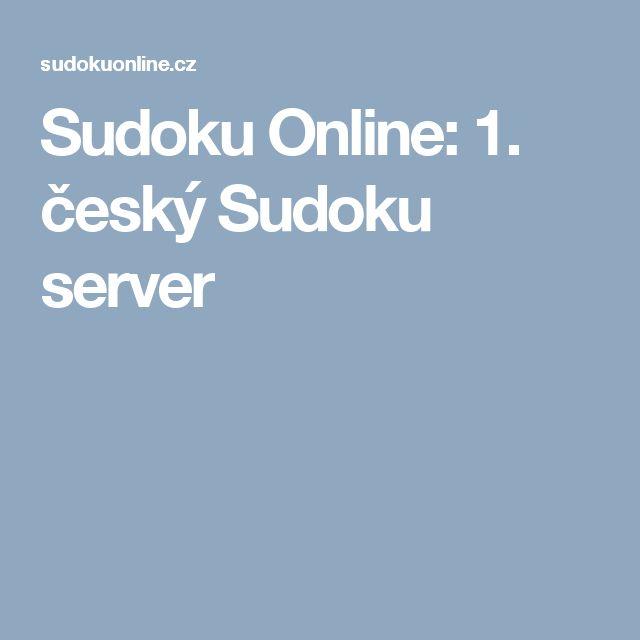 Sudoku Online: 1. český Sudoku server