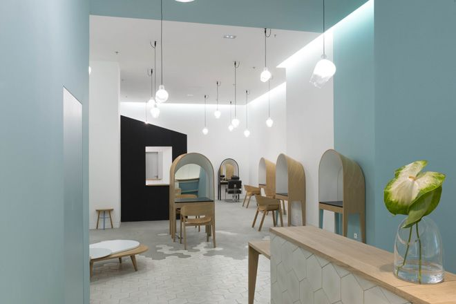 ❀ Le Coiffeur: Hair Salon in Marseille by Margaux Keller + Bertrand Guillon