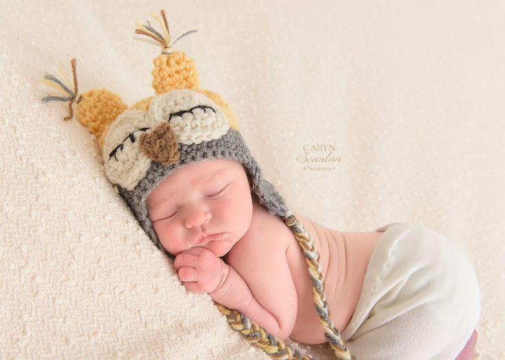 Cappello neonato cappello infantile bambino gufo di Monarchdancer