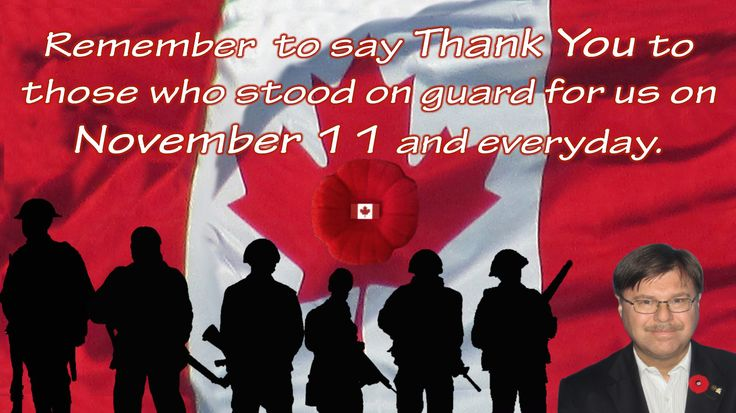 Remember  to say Thank You to those who stood on guard for us on November 11 and everyday. www.highhopescommunications.ca
