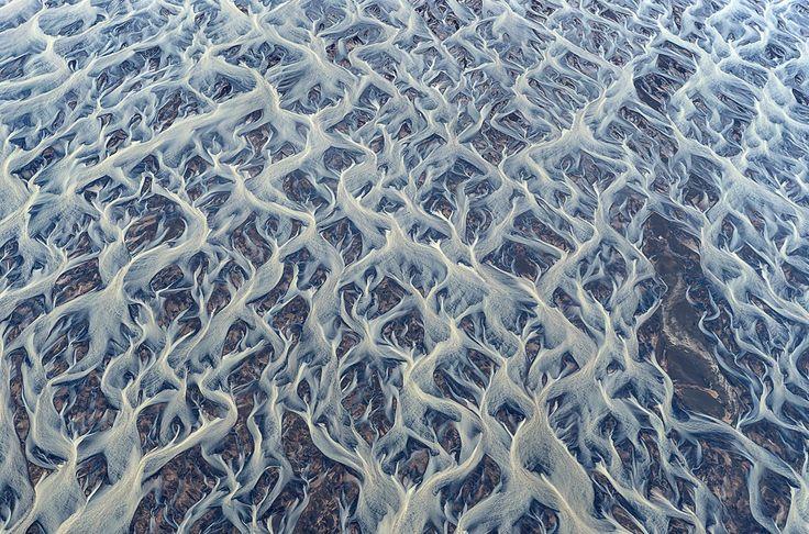 Les fleuves islandais vus du ciel: des images superbes et irréelles [PHOTOS] | Slate.fr