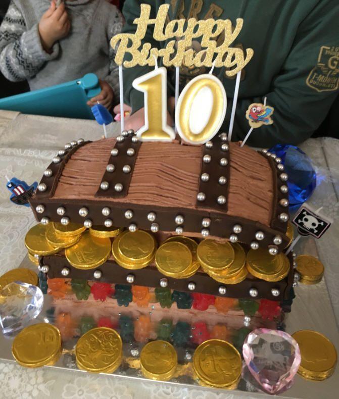 Treasure Chest Cake for boy