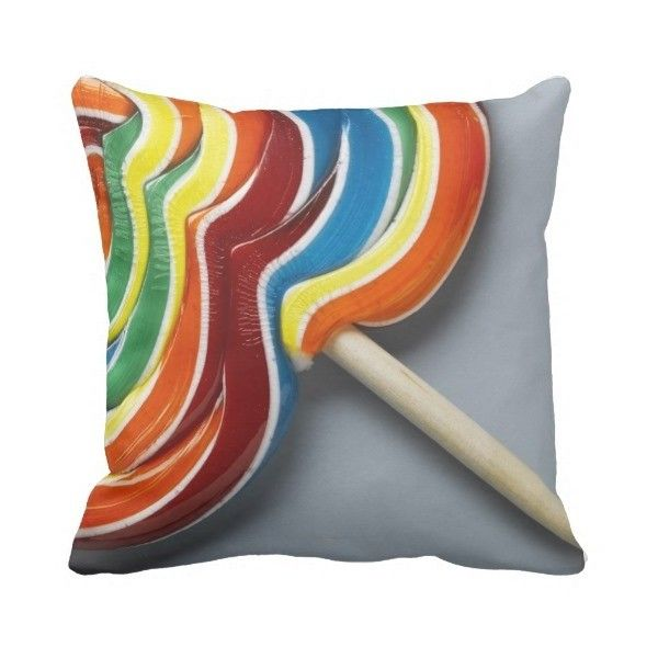 Multicoloured lollipop pillow ($53) ❤ liked on Polyvore featuring home, home decor, throw pillows, colorful home decor, multi colored throw pillows, multi color throw pillows, colorful throw pillows and quote throw pillows
