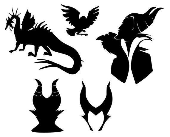 Download 13 Maleficent SVG Vector Silhouette Maleficent Cutfiles ...