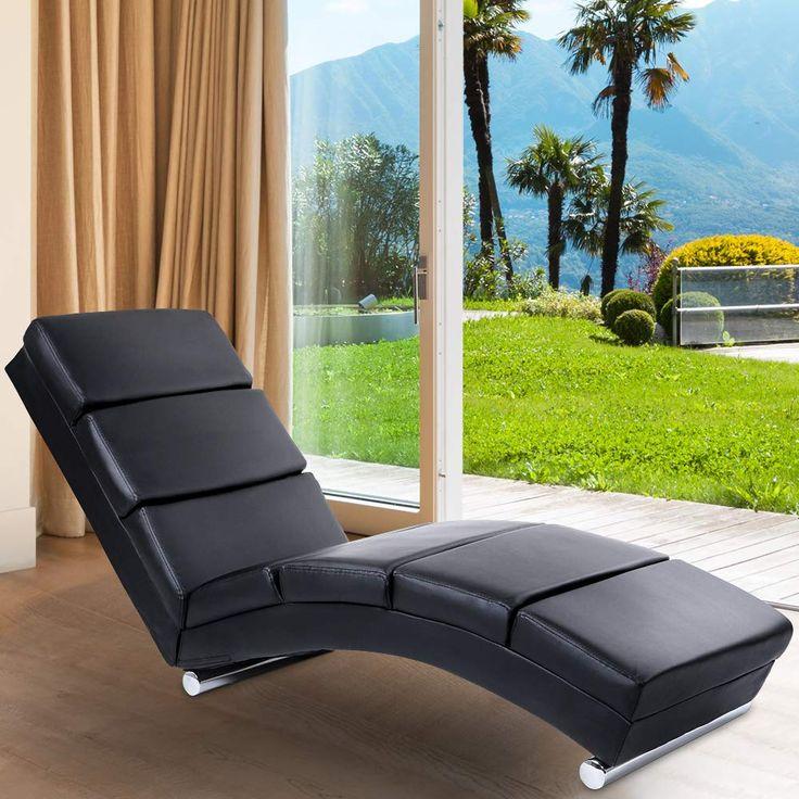 Relaxliege Ergonomisch Schwarz Liegestuhl Relaxsessel