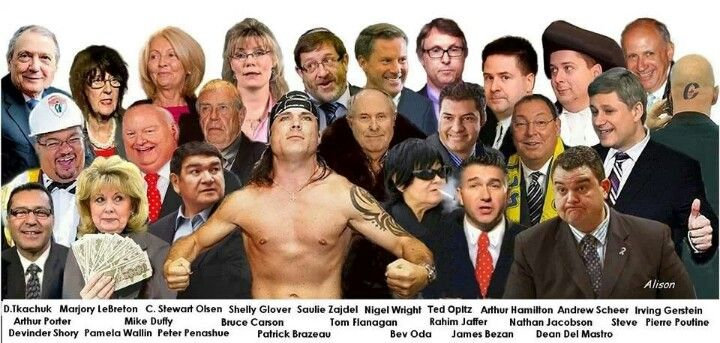 Stephen Harper's Conservative Party of Canada crime family.  Hey where's Vic Toews and Pierre Poilievre?