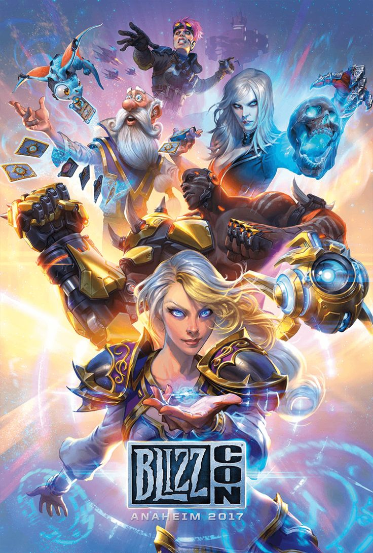 Told y'all they'd edit the BlizzCon 2017 key art to