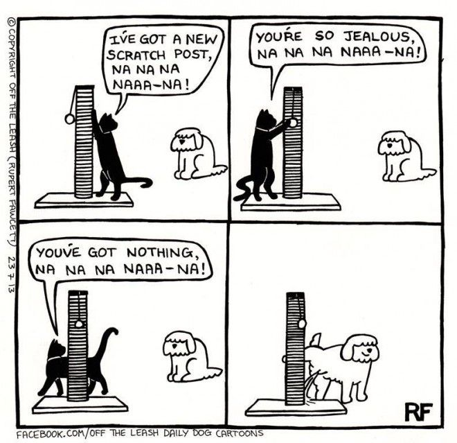 The Scratch Post -Off The Leash by Rupert Fawcett