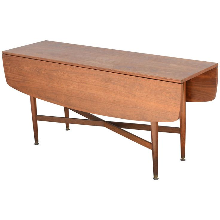 Teak Drop Leaf Dining Or Console Table Danish 1960s From A