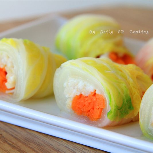 Jade Cabbage Rolls #vegetarian #appetizer #healthy #rolls #cabbage