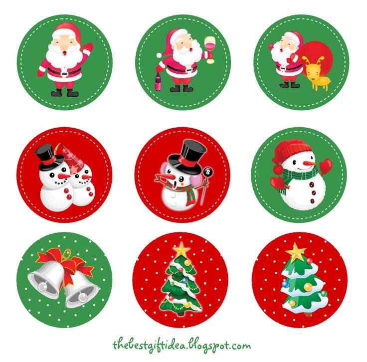 christmas+cake+topper+printable.png 764×754 pixels
