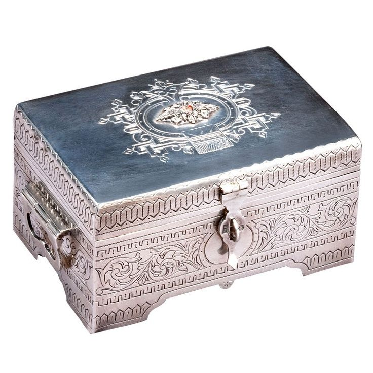 Russian Silver Engraved Box By Milyukov 1893 Boxes Old