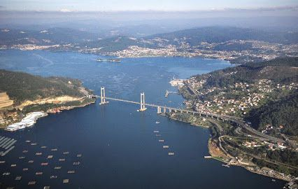 La Ria de Vigo en las #RiasBaixas.  Galicia - España - #Spain
