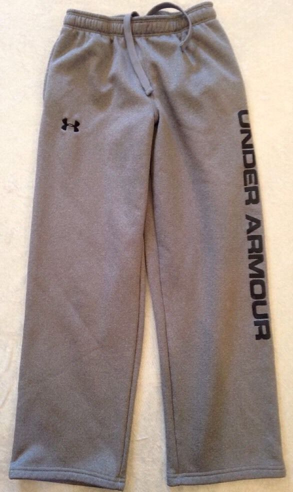 Under Armour Pants Youth Medium Loose Fit Grey Sports Fitness Drawstring #UnderArmour #AthleticSweatPants