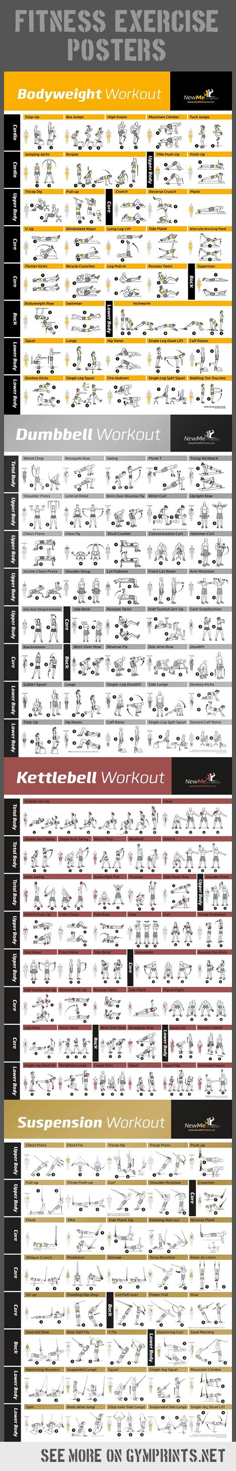 Fitness Workouts Posters
