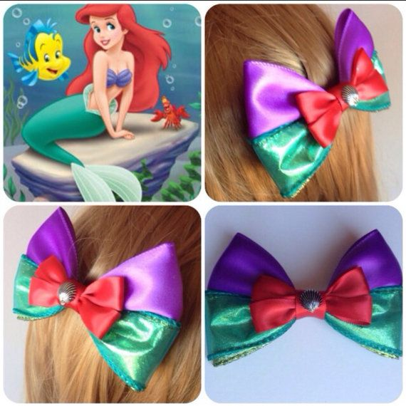Hey, I found this really awesome Etsy listing at https://www.etsy.com/listing/197078809/handmade-hair-bow-ariel-from-the-little