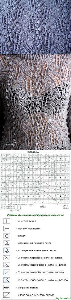 ВЕЛИКОЛЕПНЫЙ ЯПОНСКИЙ АЖУР. / Вязание спицами / Вязание для женщин спицами. Схемы