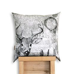 Oh Deer! Black & Grey scale Cushion Cover www.thewiggletree.com