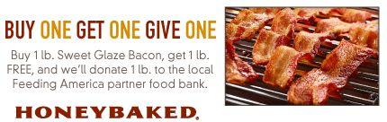 HONEY BAKED HAM $$ Reminder: Coupon for BOGO FREE 1-lb. Sweet Glaze Bacon – Expires TODAY (9/15)!